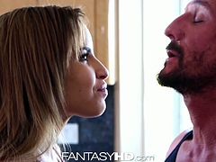Beautiful Natasha White baked some cupcakes as a treat for her man with frosting on top but he was more interested in eating out that pussy of hers and fucking her brains out on the kitchen floor for Fantasy HD!