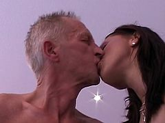 Hotties love feeling this old guy stroking his fat penis down their greedy pussies