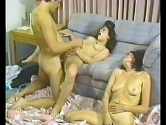 Check out this amateur video where this lucky guy fucks his girlfriend and her smoking hot mom in a threesome.