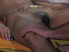 Check out super hot indian babe receiving slow cunnilingus from her boyfriend! He is licking her tight pussy and she moans from pleasure!