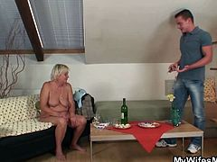 My Wife's Mom brings you an amazing free porn video where you can see how he bangs his nasty blonde mother-in-law into heaven after his nasty wife leaves.