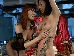 So, two lusty chicks are performing in a BDSM hardcore! Tia Ling is unlucky to by a victim of Maitresse Madeline's sexual passion!