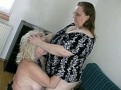 These fat lesbians like spending their free time together. They tease each other's tits tenderly and sensually like there's no tomorrow.