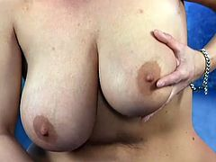 Brenda is mature busty vixen with delicious enormous big juice melons who every night before she sleeps masturbates in bed for peaceful dreams