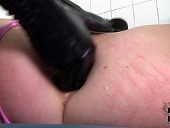 Nasty ass nurse gives special treatment to her sexy patient. She slaps her butt cheeks leaving red traces. Later on she slides four fingers in Tiffany's ass hole stretching it wide as fuck.