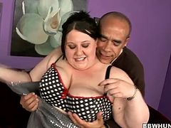 He convicted this sexy BBW to come in his house and gets fucked hard. She sucked his big black hard rod before he pumped her fat pussy.