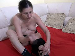 Just because there's no man around doesn't mean these two lesbians can't dominate each other's holes like any man would love to do! They fuck each other with dildo until they reach powerful orgasms.