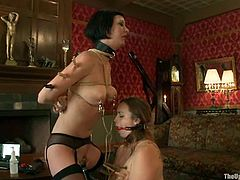 Here is a pair of sexy sex slaves, who are being abused once again. Bella Rossi and Cherry Torn are so damn used to it!