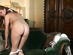 Ashley Graham with giant jugs and trimmed muff has some time to play with herself on camera