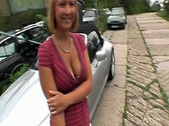 Busty milf is so sexy and her boyfriend just can't resist her. She sucks his cock in the pov style and soon he sticks it deep into her pussy and then in her asshole.