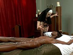 She supposed to be a model of morality, but Chanel just can't handle her sex drive. The delicious babe finally decided to unleash herself and tied Ana on the bed, to play with her. Ana is an ebony sweety and never could have thoughted, that Chanel will whip her, pour hot wax on her body and then, fed her with pussy