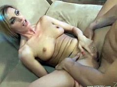 Courtesy of VideosZ you can see how the vicious blonde milf Darryl Hanah takes on two hard cocks while assuming very interesting poses. Then she's ready to be covered in cum.