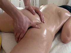 Squirt eating and jizz shot close by the massage