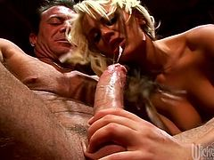 First she slides her toys in her sweet twat to make it wet and ready for this dudes massive cock. Enjoy watching her get fucked insanely hard.