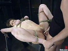 This deliciously hot and amazing siren Tyle Wynn enjoys what happens to her in this action. Babe gets tied up and fucked from behind, being blindfolded!