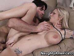 Charles Dera pulls out his ram rod to fuck dangerously sexy Brooke Banners bush