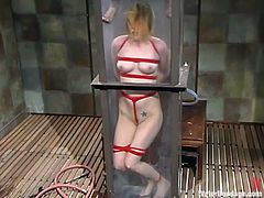 Lovely Star gets bounded by her mistress. Later on she gets whipped and humiliated in water bondage video by her sexy mistress.