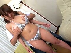 Porner Premium brings you an amazing free porn video where you can see how a busty Asian slut gets her hairy cunt drilled deep and hard into a superb orgasm.
