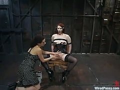 Extreme Bondage and Torture in Wild Lesbian BDSM Video