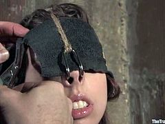 This is a moment of hell for Kristine. She had never felt fucked up before and this BDSM porn video is the most sever on our free porn site!
