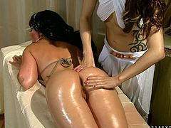 Watch them lesbian chicks having fun playing with each others wet and tight pussy in their bedroom in 21 Sextury sex clips.