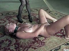 Her name is Sabrina Fox and she is hated by Aiden Starr. This video is about some wild act of sadism towards that redhead pure angel!