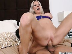 Xander Corvus pulls out his fuck stick to fuck horny as hell Emma Starrs muff