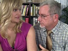 He pulls up beside her and scolds her for cutting classes. Roxy Lovette thought he was going to give her a ride back to school but instead, she wound up at his place getting her pink pussy fucked by the horny teacher.