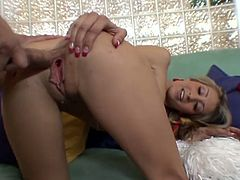 And finally her desire comes true and now she is enjoying the taste and the size of it! Natalia Rossi is such a sexy blondie!