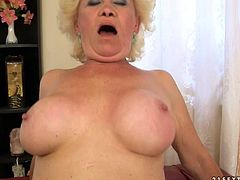 Watch this old as fuck granny who still knows how to ride a large and fat cock in her bedroom in 21 Sextury sex clips.