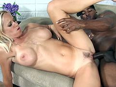 Tabitha Stevens is always down for some heavy pumping with young muscled black dudes. He showed no mercy and sticked his chocolate stick deep into her horny cunt!