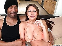 Alison Star with massive knockers and hairless cunt wants this hardcore fuck session to last forever