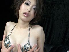 Well stacked pale bodied MILF from Japan Saki Ootsuka gets fingered