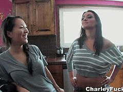 Official website of Busty Pornstar Charley Chase. Super hardcore action and home videos in which you will see Charley Chase gets a little anal help from her friend Asa as they play with her butt plug