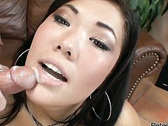 London Keyes gets drenched in cum after sex with hot guy