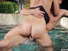 Ryan Madison gets turned on by Charlee Monroe and then fucks her honeypot