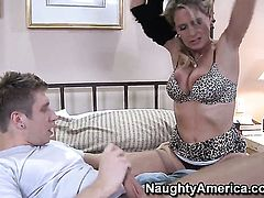 Danny Wylde cant resist playful Bridgett Lees acttraction and bangs her like theres no tomorrow