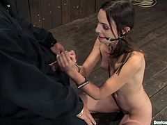 This skinny girl is being inflicted to the BDSM fantasies. Having a fetish experience changed her life and the way she screams from pain is quite emotional!