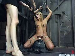 There's all sort of stuff in store for the blonde as she gets toyed severely in this bondage and domination video.