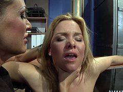 Watch them lesbian hot babes pleasing each other by rubbing and finger drilling their pussy in 21 Sextury sex clips.