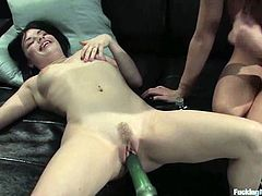 That is the best lesbian sex for Starri and Tatiana ever in their experience. Hotties get naked and please each other with a fucking machine!