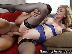 Seth Gamble pops out his ram rod to fuck amazing Nina Hartleys cunt