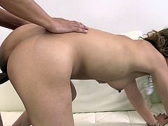Lusty Japanese hoe with mouth-watering tits and hairy pussy rides hard dick on top. She then gets banged missionary style. The guy pounds wet pussy of Aika in sideways position too. When he cums he shoots her pussy with fat creampie.