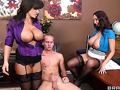 Sonny Hicks seduces Lisa Ann  Ava Addams into fucking