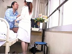 The nurses who want to be healed from fatigue of the extreme work forget their duties and come to totally enjoy themselves in the ward. Watch as naughty asian nurse gets pussy fucked horny pervert patient.