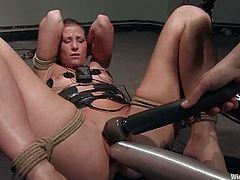 Watch this babe cumming many a times in this hot clip where she's masturbated by machines as you hear her moan and having a great time.
