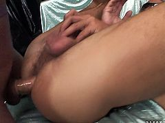 At first she sucks his stiff cock and later her meaty pole penetrates his hairy ass missionary style. Be pleased with one another hot shemale sex scene produced by 21 Sextury porn site.