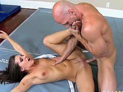 Naughty brunette chick having appetizing big butt gets her anus rimmed and finger fucked. It's a time for HD sex videos produced by Brazzers porn site.
