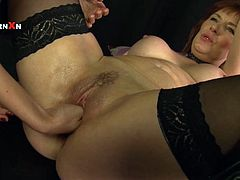This hot lesbian sex video featuring Faye Rampton and Mishka Develin is going to end with a girl's fist inside another girl's vagina.