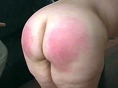 What a sassy and chubby hun Candy is! She gets naked and this dude is going to give her a hardcore spanking. Pain is her orgasm!